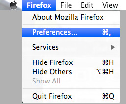 Firefox Mac OS X Javascript