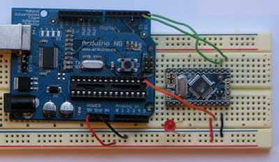 Connecting the Arduino Mini and a regular Arduino