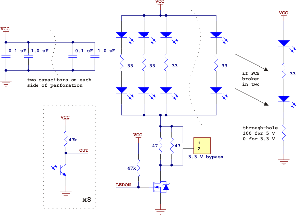 QTR-8A Schematic Diagram
