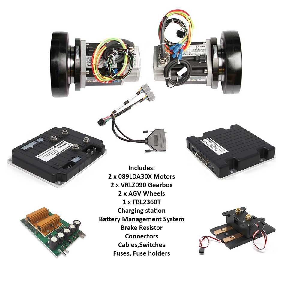 AGV Kit for 600Kg Mobile Robot 24Volt