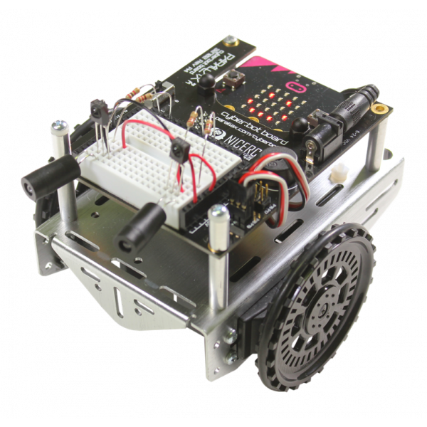 Assembled, top view cyber:bot Robot Kit