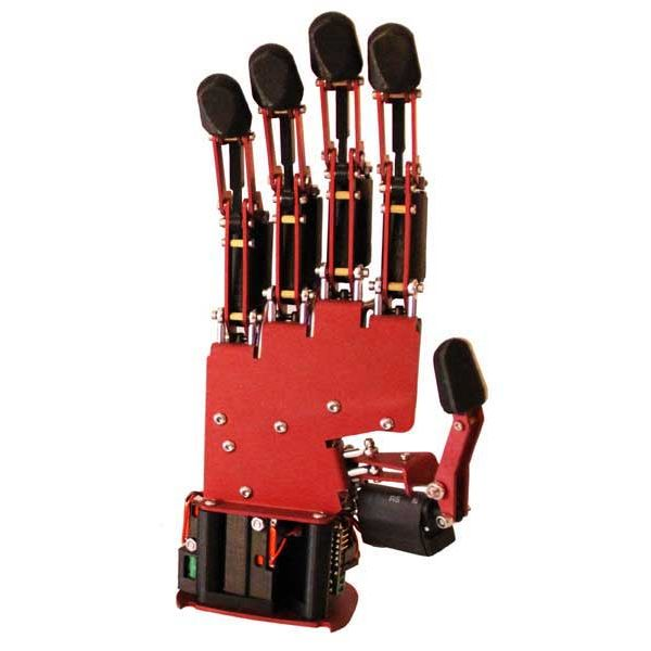 AR10 Humanoid Robotic Hand in red - front view
