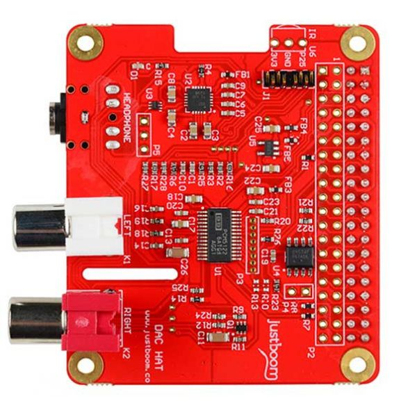 JustBoom DAC HAT front of board