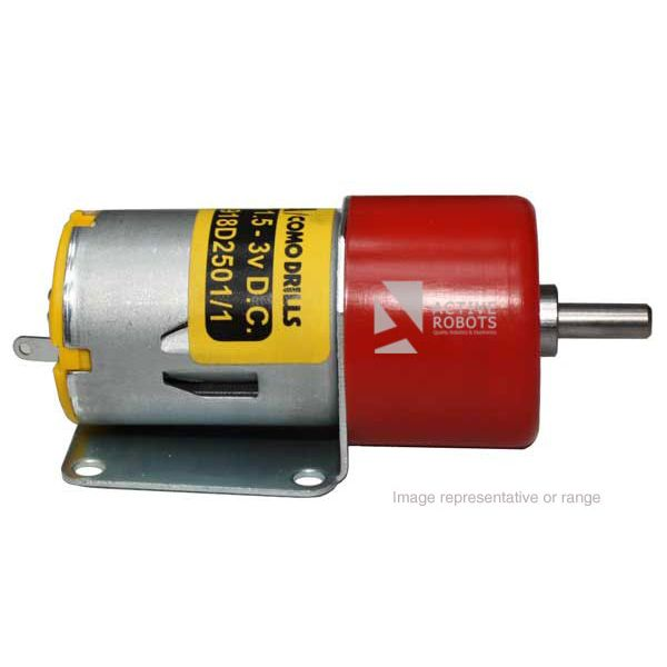 15 RPM Metal Gearmotor 1.5-3VDC side view
