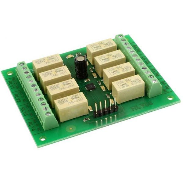 RLY08 - 8 channel I2C/Serial relay