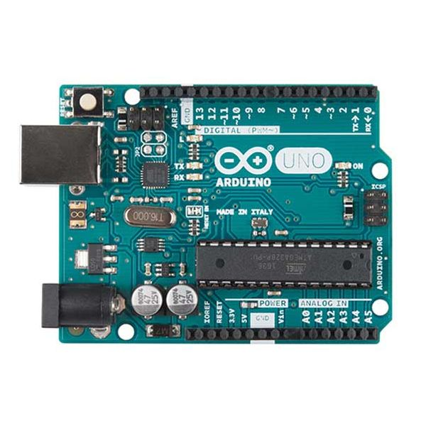 Arduino Uno R3 top down view