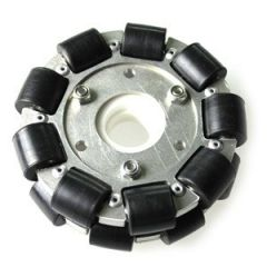 100mm Double Aluminium Omni Wheel w/Bearing Rollers
