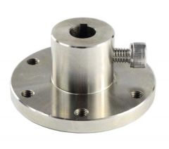 10mm Stainless Steel Key Hub Showing Screw Key