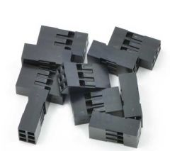 """0.1"""" (2.54mm) Crimp Connector Housing 2x3 -pin 10 pack housing"""