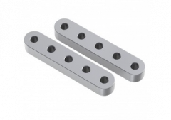 "1.54"" (5 hole) Aluminium Beams (2 pack)"