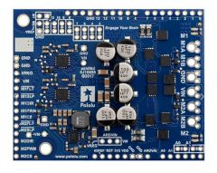 Pololu Dual G2 High-Power Motor Driver 24v14 Shield for Arduino.