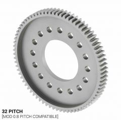 """32 Pitch, 76 Tooth (1.00"""" Bore) Aluminum Hub Gear"""