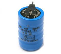 4.8V / 60mA Vertically Stacked Rechargeable Battery