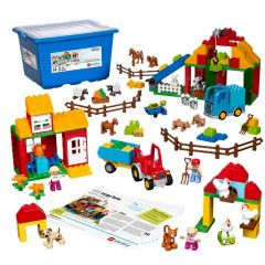 Large Farm, Lego Education, box and products