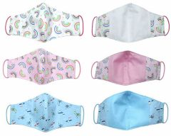Children's 3 layer, 100% cotton, face masks with filter pocket. Quality product made in Somerset, UK