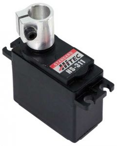 "5/16"" Hitec Servo to Shaft Coupler (Hitec) on servo"
