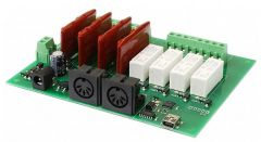 MIDI-RLY08-4 relay, 4 dimmer