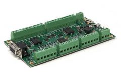 RIOX-1216AHRS  Roboteq I/O eXtender. 3A DCDC, 12 In, 16 Out. With AHRS.