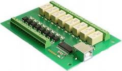 USB-OPTO-RLY88 - 8 Channel Optically Isolated Inputs, 8 Channel Relays