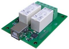 USB-RLY02 - 2 Channel Relay Module