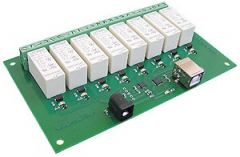 USB-RLY16 16Amp, 8 Channel Relay Module