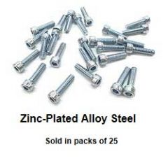 6-32 Zinc Plated Alloy Steel Screws
