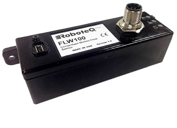 FLW100  Contactless X-Y Flow sensor with AHRS, USB, RS232, PWM and CAN output.