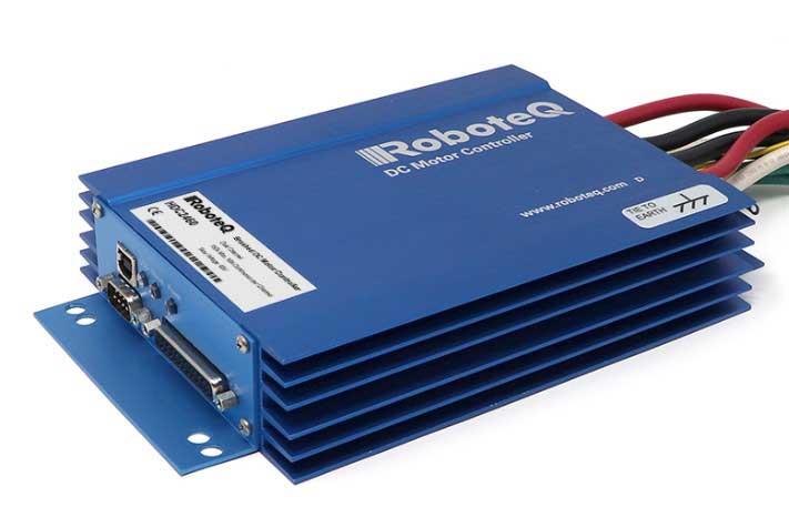 HDC2460 Brushed DC Motor Controller, Dual Channel, 2 x 150A, 60V, USB, CAN, 19 Dig/Ana IO, Heatsink enclosure