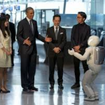 Asimo showing his skills to President Obama