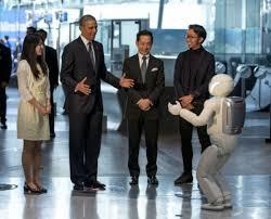 Asimo showing his skills to President Obama