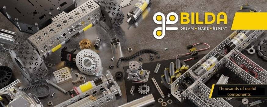 The all new goBILDA range, the prototyper's favourite build system is now available in metric.